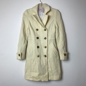 Cream Trench Coat Size Small